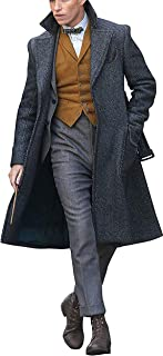 The Fantastic Beasts Crimes of Grindelwald Eddie Redmayne Newt Scamander Grey Wool Coat