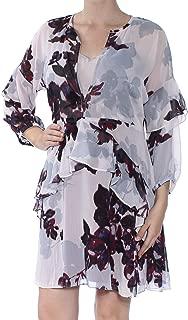Womens Ruffled A-Line Dress