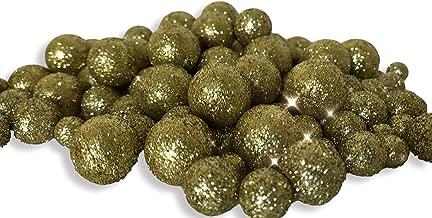 BANBERRY DESIGNS Gold Iridescent Foam Balls - 5 Bag Set of Glitter Vase Filler Decorative Balls – Table Scatter Decorations – Gold Party Décor