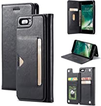 Wallet Case for iPhone 6 / 6s Plus/ 7/8/ 7 Plus/ 8 Plus Folio Cover Stand Card Slot + Side Pocket Magnetic Closure iPhone 6 / 6s-4.7inch Black I6-6KFOR-SA-BK