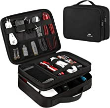 Matein Electronics Travel Organizer, Waterproof Electronic Accessories Case Portable Double Layer Cable Storage Bag for Co...