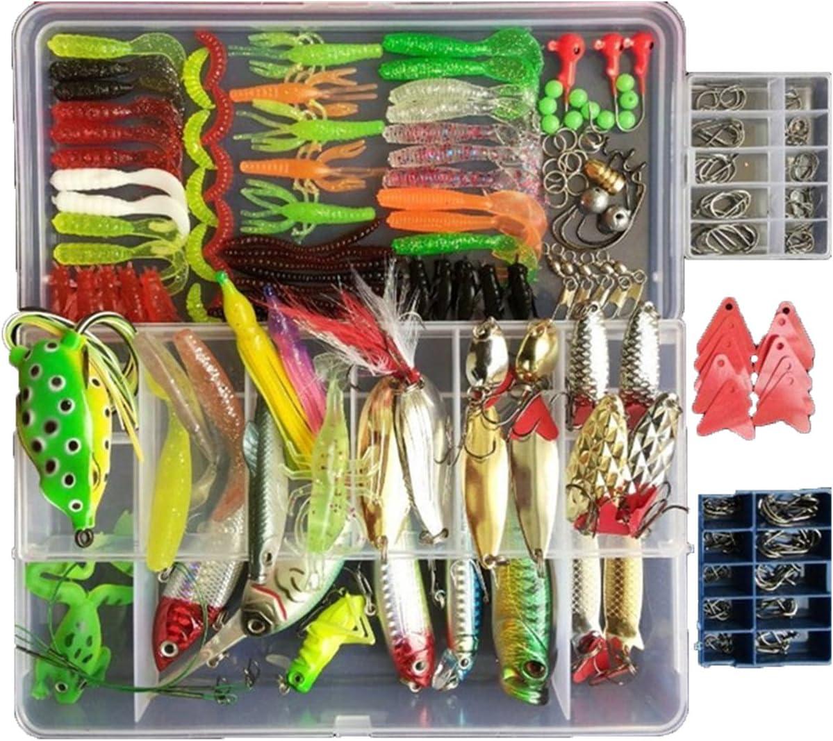 Lovoski 10pcs Hard Fishing Lures for Fresh//Saltwater,Tackle Lure Kit Set