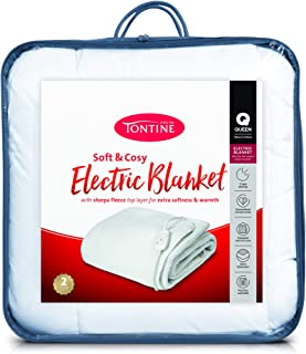Tontine T9019 Sherpa Electric Blanket,Queen Bed