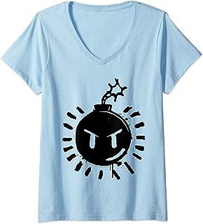 Womens Scott Pilgrim Vs. The World Sex Bob Omb Bomb Logo V-Neck T-Shirt