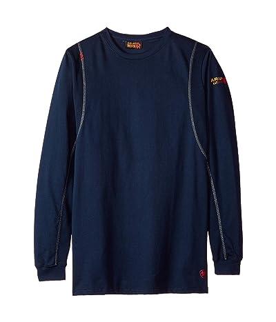 Ariat Big Tall FR AC Crew T-Shirt (Navy) Men