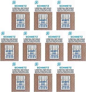 50 Schmetz JerseySewing Machine Needle -Assorted sizes- Box of 10 cards