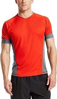 Mission Men's VaporActive Proton Short Sleeve Running T-Shirt, Fiery Red/Iron Gate, Medium