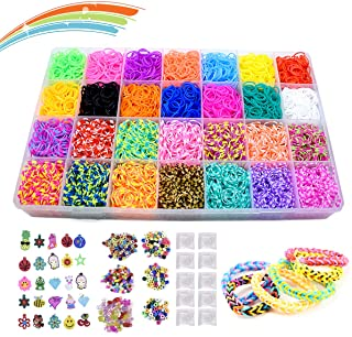Yehtta Gifts for 5-10 Year Old Girls Rainbow Rubber Bands Loom Kit Kids Art Crafts DIY Toys Jewelry Making Kit Personalize...