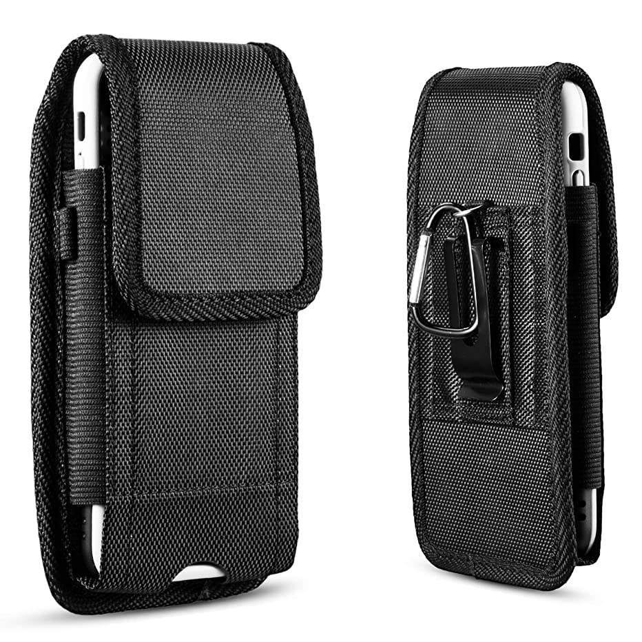 suily Universal Metal Belt Clip Holster Protective Waist Pouch Vertical Flip Cover for iPhone 6/7/8 Plus(Fit for 5.5'Smartphones)
