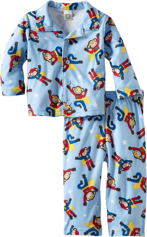 Little Me Baby Boys' Hero Coat Two Piece Pajama Set