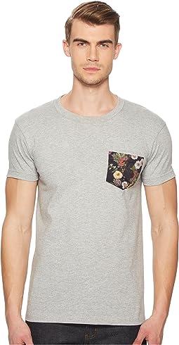 Antique Botanical Painting Pocket T-Shirt