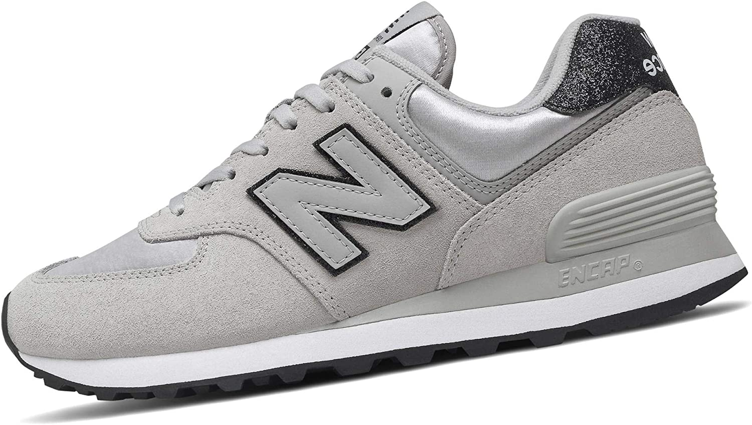 New Balance 574 Rain Cloud/White Suede Adult Trainers Shoes