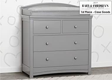 Simmons Kids SlumberTime Emma 4 Drawer Dresser with Changing Top, Grey