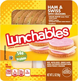 Lunchables Ham Swiss & Crackers (3.2 oz Tray)