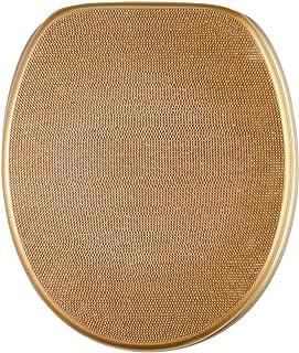 Abattant WC frein de chute soft close - Finition de haute qualité - Fixation facile - Cristal-Doré