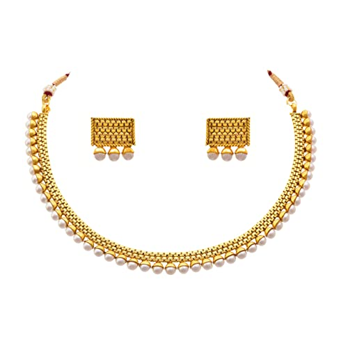 1 Gram Gold Necklace Set: Buy 1 Gram Gold Necklace Set