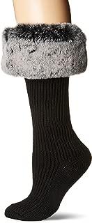 UGG Women's Faux Fur Cuff Tall Rainboot Sock