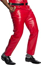 Charades Men's Faux-Leather 4-Pocket Costume Pants