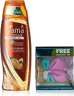 Fiama Peach and Avocado Deep Moisturize Shower Gel, 250ml with Free Loofah