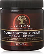 As I Am Double Butter Cream – 8 Ounce – Rich Daily Moisturizer – Soft..