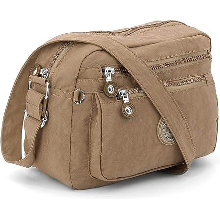 ekavale - Kleine Schultertasche aus Wasserabweisendes Nylon – Handtasche für Damen & Mädchen - Crossbody Bag - Leichte Umhängetasche