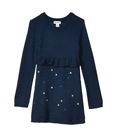 Splendid Littles Lurex Star Sweater Dress (Toddler/Little Kids) (Phantom Ink) Girl