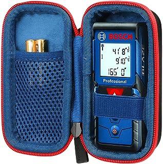 co2CREA Duro Viajar Caso Cubrir para Bosch Professional Medidor láser de distancia GLM 40/GLM 50 C (Negro/Cremallera roja)
