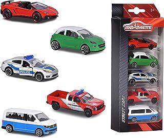 Majorette - Set 5 Pièces - Voitures Miniatures en Métal - Coffret 5 Véhicules Street Cars - 212053166Q02