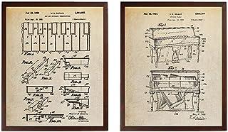Turnip Designs Upright Piano Keys and Keyboard Patent Prints