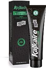 AH Kalkaire - Carbón activado de bambú Pasta de dientes negro - Pasta de dientes blanqueadora para dientes sensibles - Pasta de dientes blanqueadora sin flúor - Agente blanqueador natural - menta