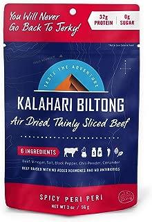 Kalahari Biltong | Air-Dried Thinly Sliced Beef | Spicy Peri | 2oz (Pack Of 8) | Sugar Free | Keto & Paleo | Gluten Free | Better Than Jerky