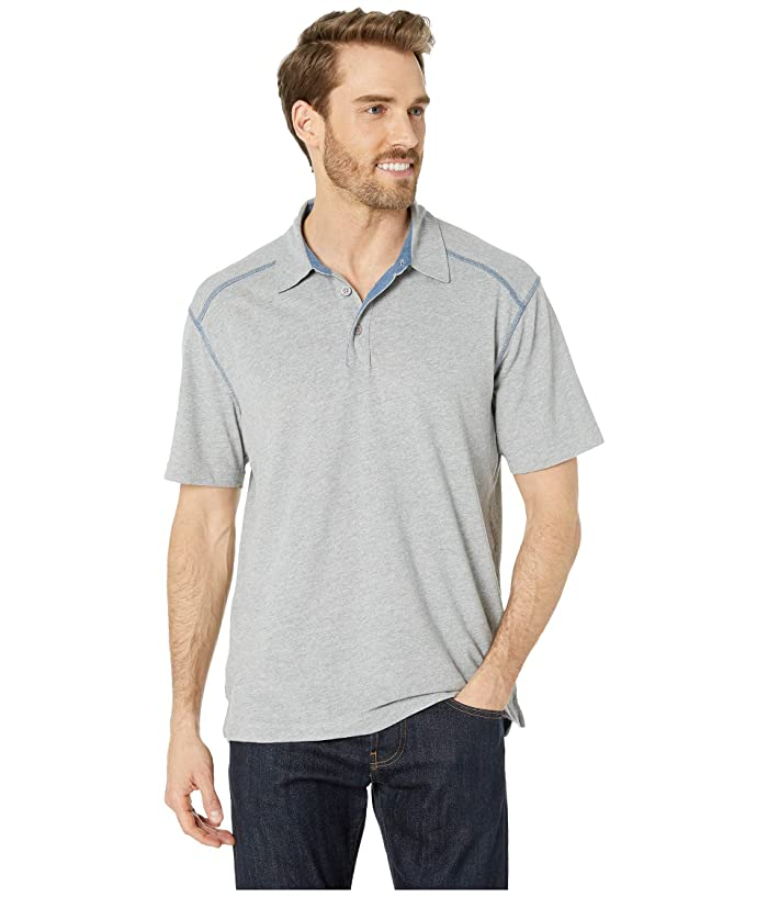 White Sierra Mill Valley Short Sleeve Polo (Heather Gray) Men