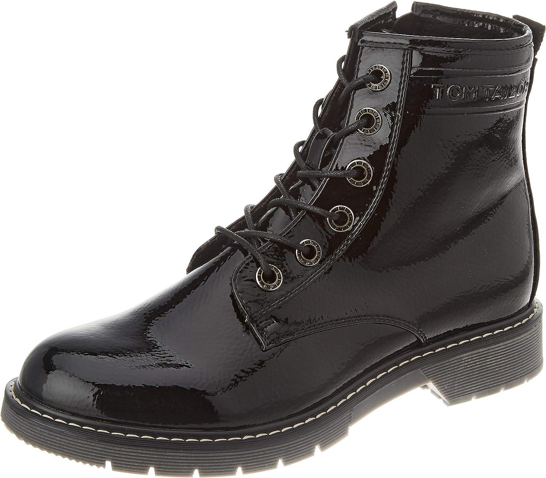 TOM TAILOR Women's 9092801 Mid Calf Boot, Black, 7.5 us