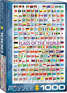 Eurographics 1000pcs - Flags of the World