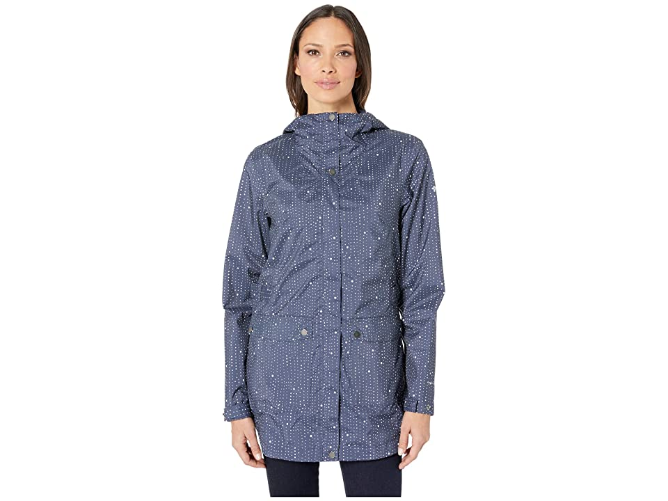 Columbia Here and Theretm Trench Jacket (Nocturnal Rain Dots Print) Women
