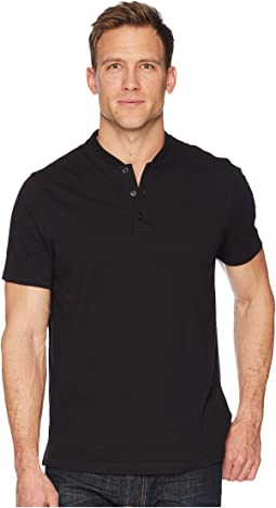 Perry Ellis Stretch Solid Jacquard Henley