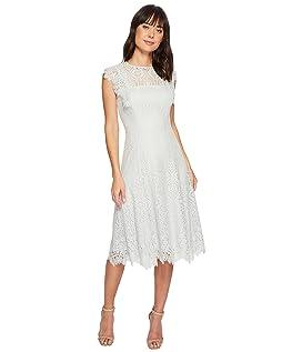 Lace Flutter Sleeve Midi Dress