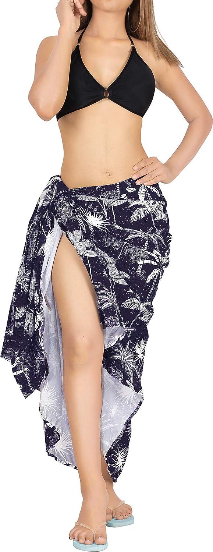 LA LEELA Women's Wrap Around Sarong Swimwear Beachwear Pareo Towel Holiday