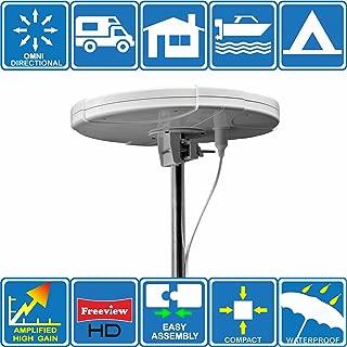 TV digital DAB FM Antena omnidireccional amplificada, 12V / 220V, para autocaravanas, caravanas, furgonetas, barcos, camiones, camping