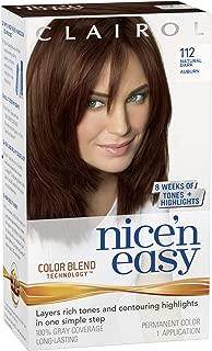 Clairol Nice'n Easy Permanent Hair Color, 4R Dark Auburn, 3 Count