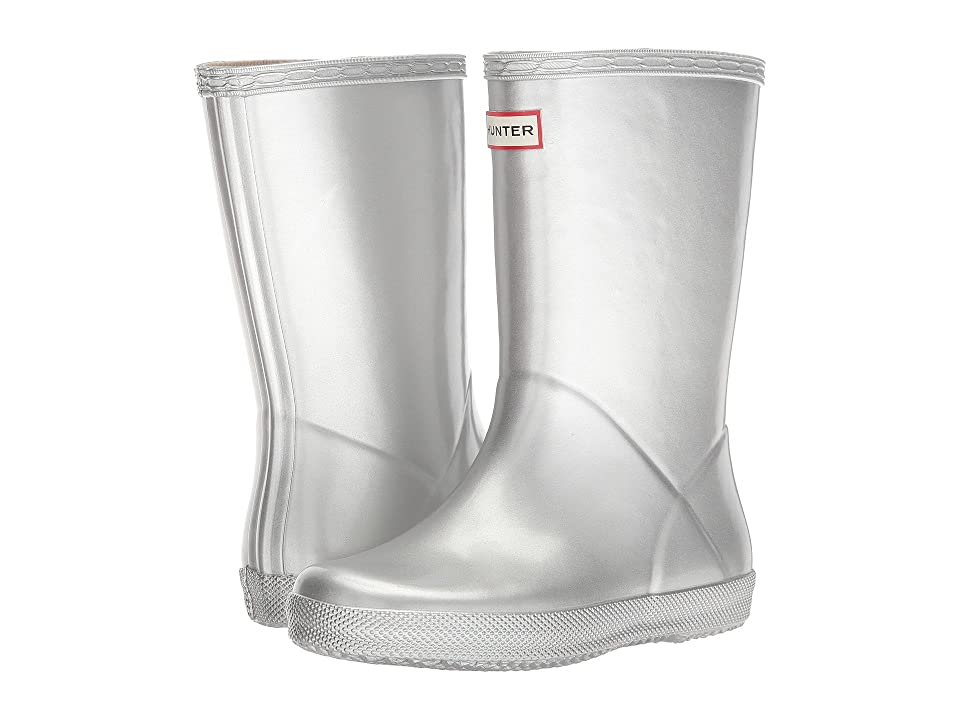 Hunter Kids First Classic Metal Rain Boot (Toddler/Little Kid) (Silver) Kids Shoes