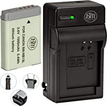 BM Premium NB-13L Battery and Battery Charger for Canon PowerShot SX740 HS, G1 X Mark III, G5 X, G5 X Mark II, G7 X, G7 X ...