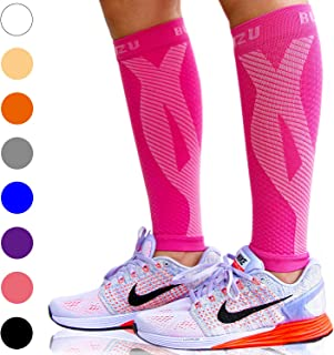 Calf Compression Sleeve Leg Performance Support Shin Splint & Calf Pain Relief. Men Women Runners Guards Sleeves Running. Improves Circulation Recovery