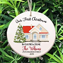 Personalized Our First Christmas in Our New Home Ornament ~ Free Personalization
