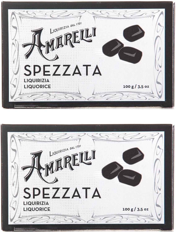 Amarelli Regaliz Spezzata Regaliz Puro Sin Aromas En Trozos Irregulares - 2x100 gr