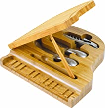 TOSCANA - a Picnic Time Brand Piano Bamboo Cheese Board/Tool
