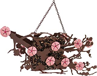 "Desert Steel - Hanging Bird Seed Cake Feeder - Cherry Blossom Flower - (14""L x 7""H x 6""D)"