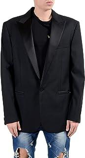 af2f90b325 Versace Men's 100% Wool Black One Button Blazer Sport Coat US 44 ...