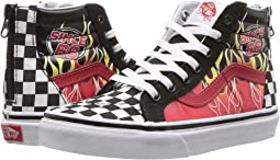 (Race Flame) Black Racing Red True White. 127. Vans Kids. Sk8-Hi Zip ... 2b3614a61
