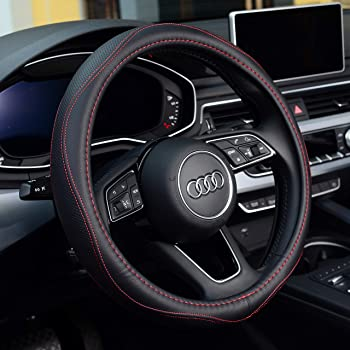 Anti-Slip Breathable Warm in Winter and Cool in Summer,Black Labbyway Steering Wheel Covers Microfiber Leather Auto Universal 15 inch